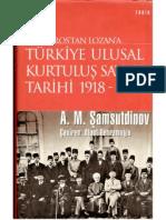 Mondros'tan Lozan'a Türkiye Ulusal Kurtuluş Savaşı Tarihi 1919 - 1923