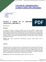 Rapoport, M (2006) ETAPAS Y CRISIS EN LA HISTORIA ECONÓMICA ARGENTINA 1880-2005