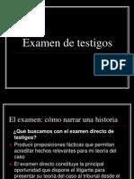 Examen de Testigos