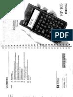 Manual HP10B