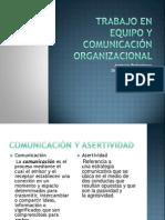 Trabajo en equipo y comunicación organizacional