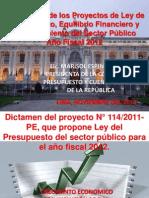 Exposición Ley de Ppto 2012