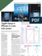 Apple lança o iPhone 5, com tela maior