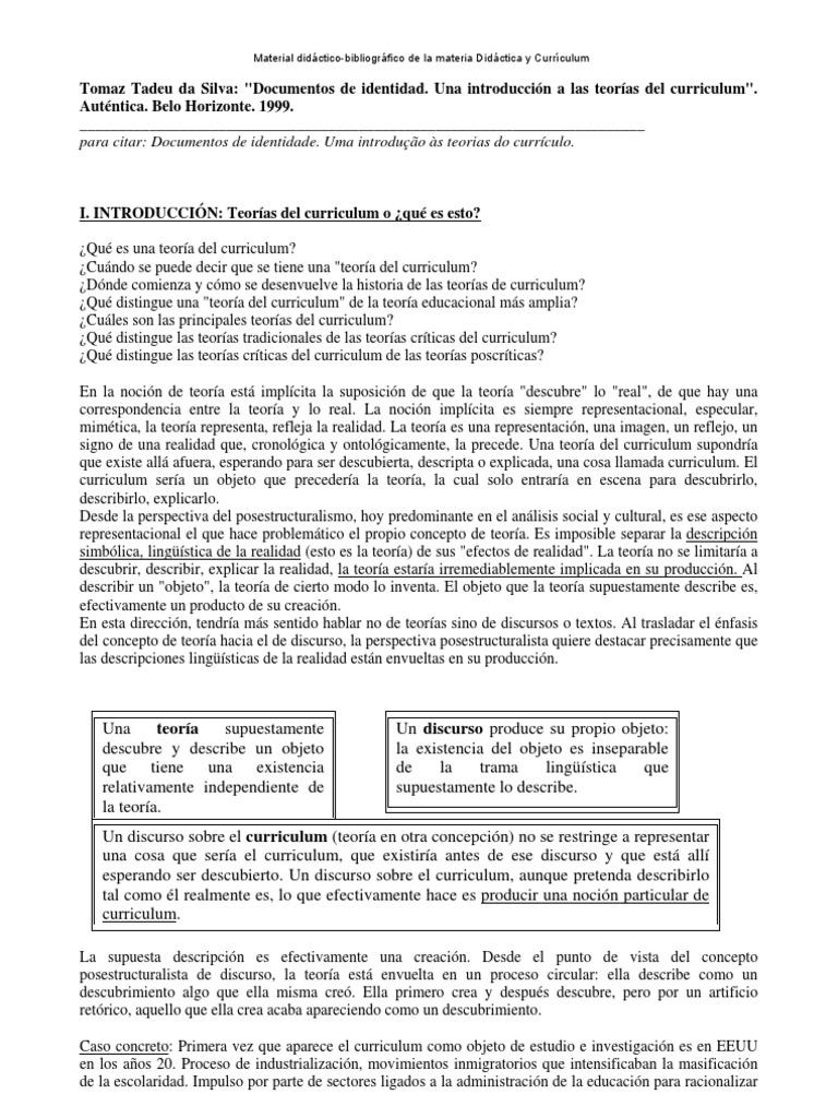 Da Silva, T. - Documentos de Identidad(Didactica2)