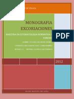 MONOGRAFIA (EXCORIASIONES)