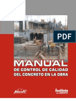 Manual de Control de Calidad Del Concreto