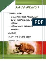 HISTORIA DE MÉXICO 1