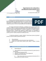 Experiencias de evaluación y acreditación universitaria en  el Perú-Dr. Francisco Farro Custodio.