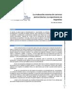 La evaluación externa de carreras universitarias. La experiencia en Argentina-Dra. Marcela Zeballos