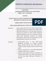Kep 01 Tahun 2012 Rincian Tugas Unit Kerja Dilingkungan Kantor Pusat Bmkg