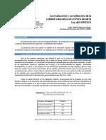 La  evaluación y acreditación de la calidad educativa en el Perú desde la Ley del SINEACE-Mgtr. Miguel Angel Saravia Rojas