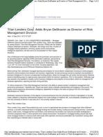 Titan Lenders Corp. Adds Bryan DeShasier as Director of Risk Management Division
