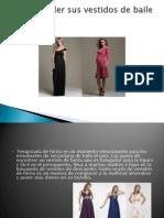 Cómo vender sus vestidos de baile usados