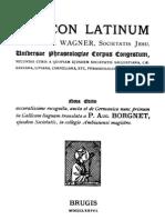 Lexicon Latinum Francisci Wagner