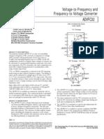 ADVFC32KN Convertidor de Frecuencia a Voltaje y Viceversa