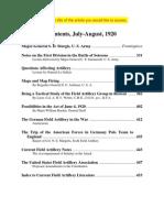 Field Artillery Journal - Jul 1920