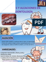 aleaciones en Odontología