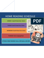 Home Reading Schedule