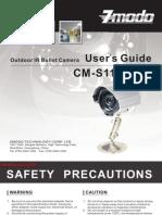 Outdoor IR Bullet Camera User's Guide