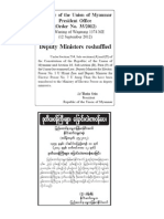 2012 Sep 13 Deputy Ministers Reshuffled