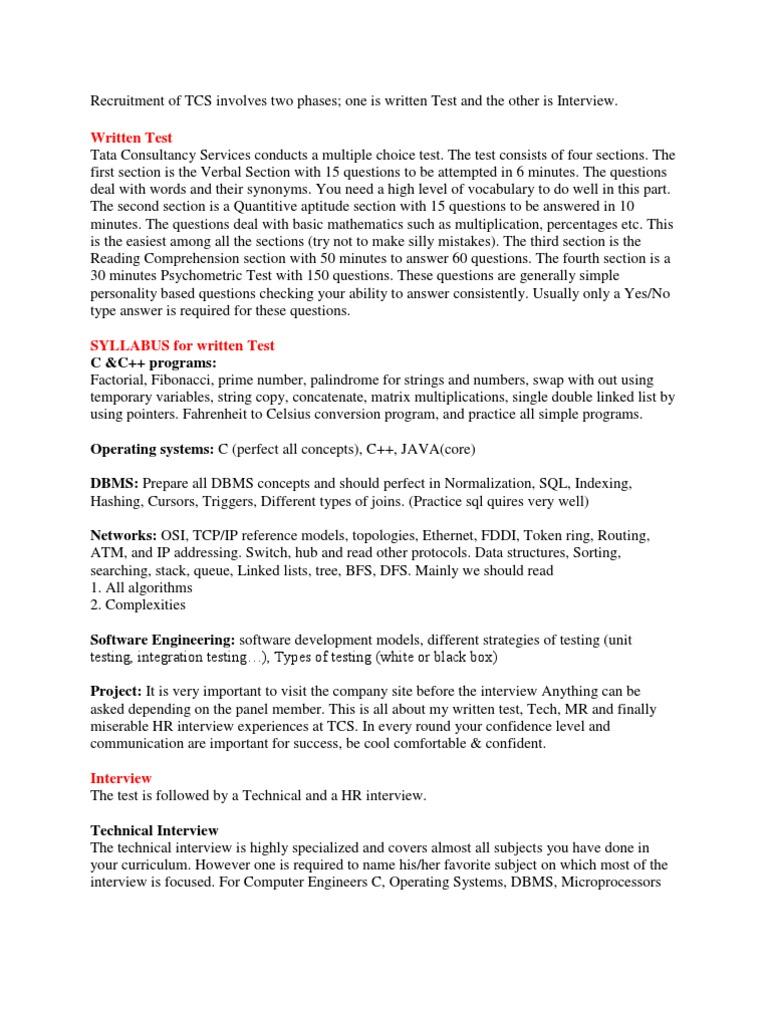 TCS Recruitment Model & Sample Questions | String (Computer