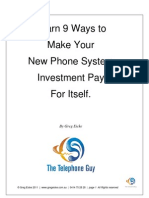 Learn 9 Ways for Your New Phone System Investment to Pay for Itself