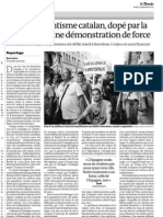 20120913 LeMonde manifestacion independencia Cataluña