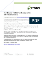 New Hosted VoIP Revolutionises SME Telecommunications
