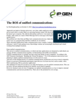 The ROI of Unified Communications