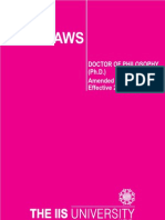 Phd By Laws