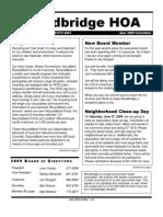 Newsletter - June 2009
