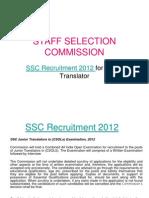 Ssc New advertisement Junior Translator