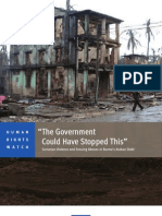 """The Government Could Have Stopped This""_Human Rights Watch Report on Rohingyas 2012"
