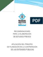 Cartilla Procuraduria Estudios Previos Contratacion estatal Colombia