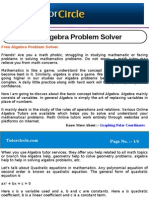 Free Algebra Problem Solver
