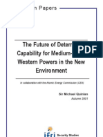 The Future of Deterrent Capability for Medium-Sized Western Powers in the New Environment
