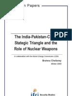 Proliferation Paper 5, Chellaney, Hiver 2002