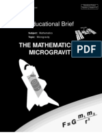 Microgravity Mathematics