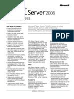 SQL Server 2008 - Express Datasheet
