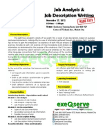 Job Analysis and Job Description Writing Made Easy - Nov 27