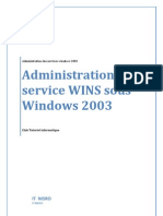 Administration de Service WINS Sous Windows 2003