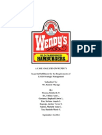 Ls Case Analysis Wendys