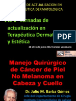 Manejo Quirúrgico de Cáncer de Piel No Melanoma en Cabeza y Cuello