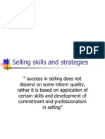 Selling Skills and Strategies