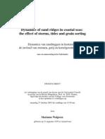 Dynamics of Sand Ridges in Coastal Seas