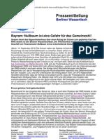Pressemitteilung vom Berliner Wassertisch vom 14. September 2012