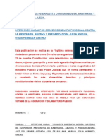 Modelo de Queja Interpuesta Contra Arbitraria, Abusiva y Prevaricadora Jueza Maruja Otilia Hermoza Castro