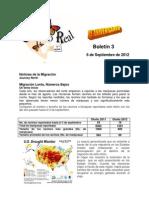 Boletín 3 de correo real de las mariposas monarca, temporada 2012-2013