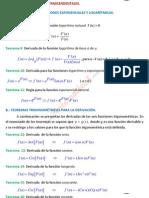 teoremas de Funciones Trascendentales