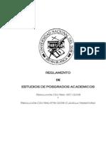 Reglamento de Estudios de Posgrados Académicos UNS